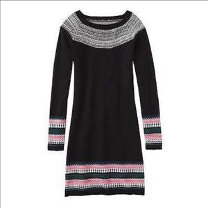 Athleta Fair Isle Sweater dress Black size XS